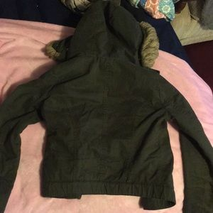 Hollister Jackets & Coats - Hollister jacket xs army green!